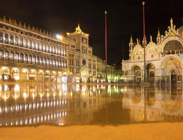 St Mark's Basilica Photograph - Evening View Of St Marks Square by Grant Faint