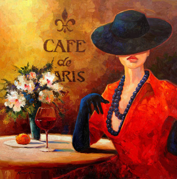 African American Woman Wall Art - Painting - Evening Wine by Kanayo Ede