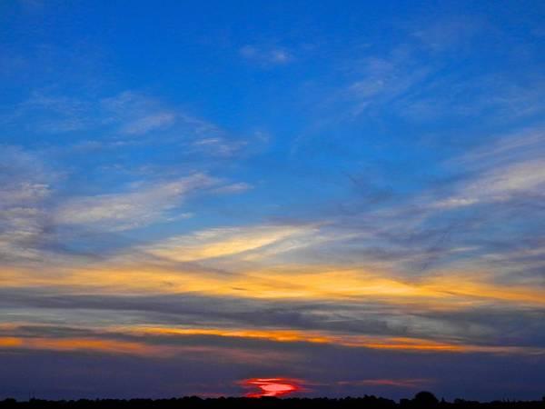 Disappearance Photograph - Evening's Sky Colors by Joe Wyman