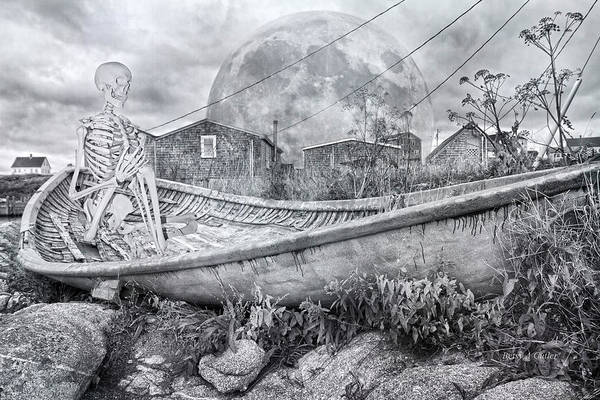 Skeletal System Photograph - Ever Presence Bw by Betsy Knapp