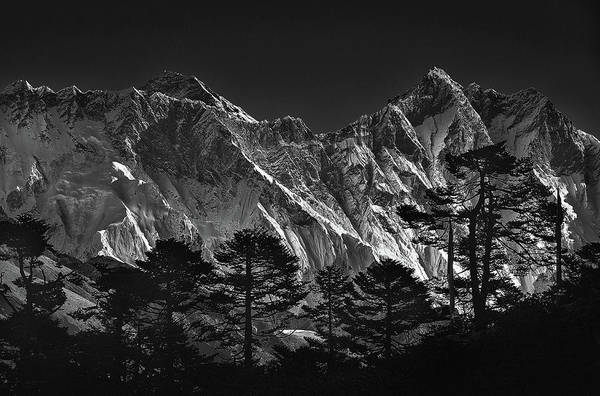 Mounted Photograph - Everest View by Sorin Tanase