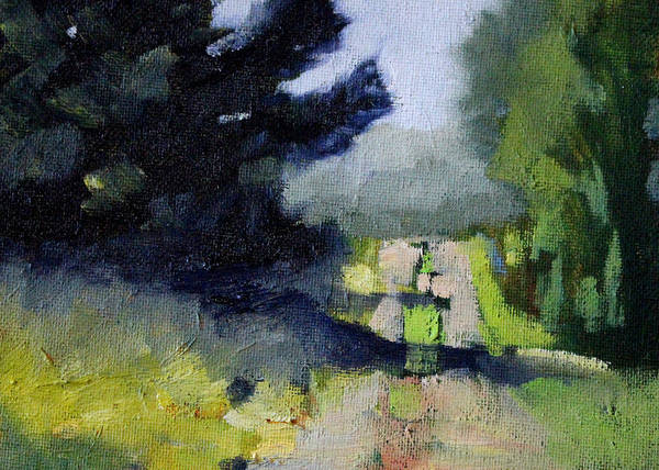 Distant Trees Wall Art - Painting - Evergreen Light by Nancy Merkle