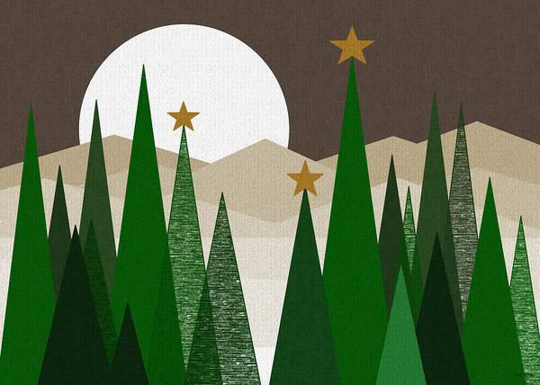 Digital Art - Evergreen Winter by Val Arie