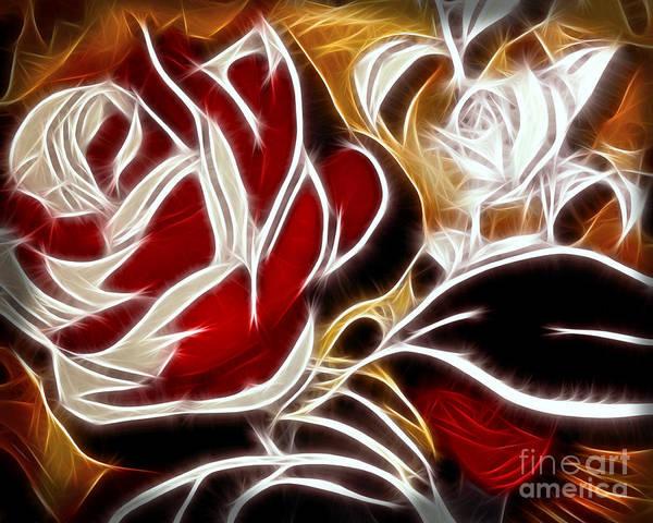 Digital Art - Everlasting Rose by Lutz Baar