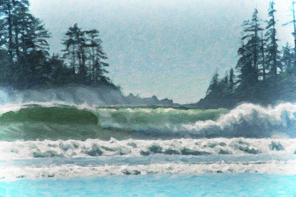 Digital Art - Everlasting Surf by Richard Farrington