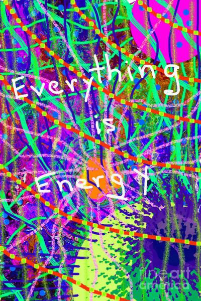 Digital Art - Evertyhting Is Energy by Walter Paul Bebirian