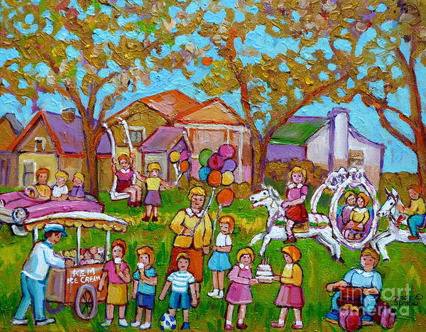 Skip Rope Painting - Every Child's Perfect Garden Party by Carole Spandau