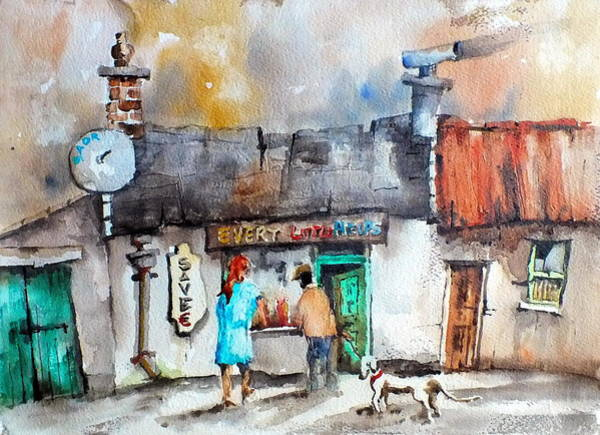 Painting - Every Little Helps One Stop Shop by Val Byrne