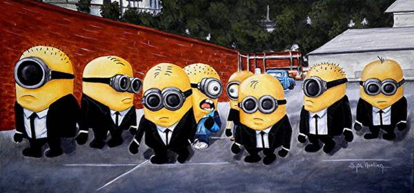 Wall Art - Painting - Every Minion Has His Day by Al  Molina