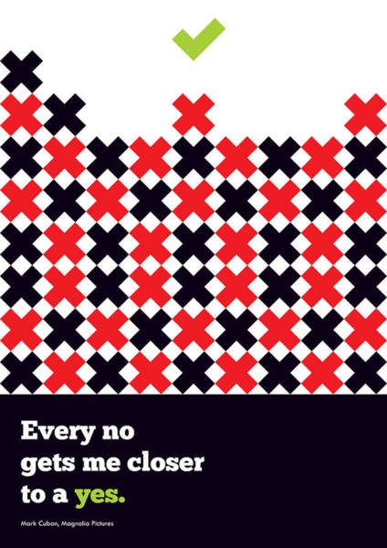 Wall Art - Digital Art - Every No Gets Me Closer Typography Art Inspirational Quotes Poster by Lab No 4 - The Quotography Department