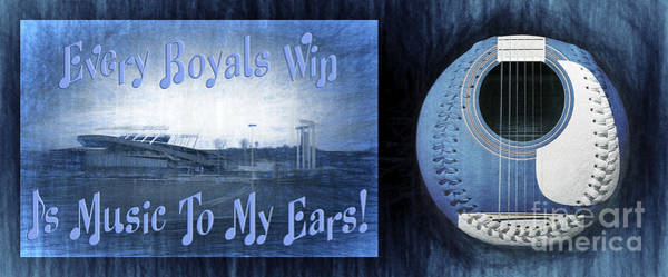 Mixed Media - Every Royals Win Is Music To My Ears by Andee Design