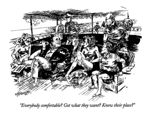 Lounge Drawing - Everybody Comfortable? Got What They Want? Know by William Hamilton