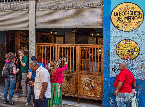Photograph - La Bodeguita In Havana - Good Time For All At Hemmingway Bar by Les Palenik
