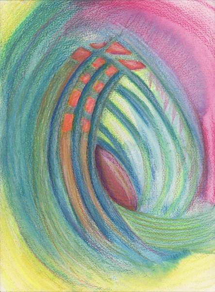 Mixed Colors Drawing - Everything And Nothing by Kelly K H B