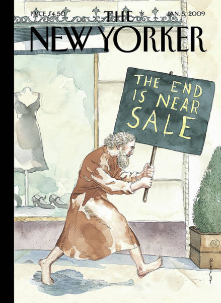Sale Painting - Everything Must Go By Barry Blitt by Barry Blitt