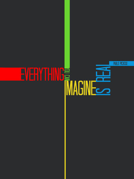 Amusing Wall Art - Digital Art - Everything You Imagine Poster by Naxart Studio
