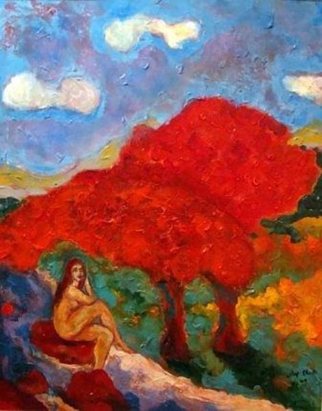 Painting - Eve's Eden by Dilip Sheth