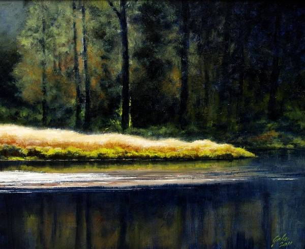 Stream Wall Art - Painting - Evetide by Jim Gola