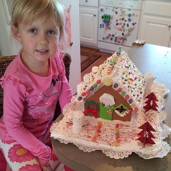 Holiday Wall Art - Photograph - Evey And Mommy Finished The Gingerbread by Chris Morgan