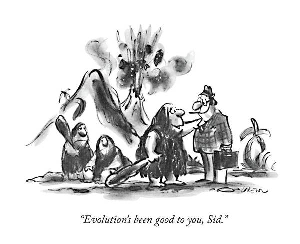 1980 Drawing - Evolution's Been Good by Lee Lorenz