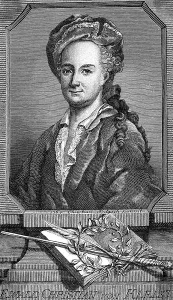 1715 Drawing - Ewald Christian Von Kleist  German Poet by Mary Evans Picture Library