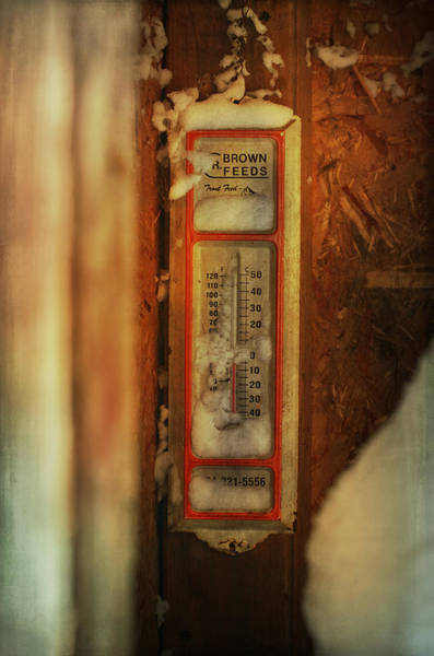 Thermometer Wall Art - Photograph - Exactly How Cold Is It by Susan Capuano