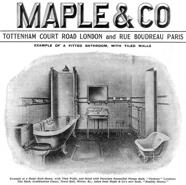 Maple Drawing - Example Of A Model Bathroom, With Tiled by Mary Evans Picture Library