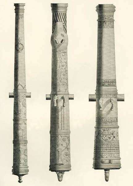 Armament Photograph - Examples Of Cannons. From Left To Right, A German Nachtigall Cannon Cast In Brunswick, Germany by Bridgeman Images