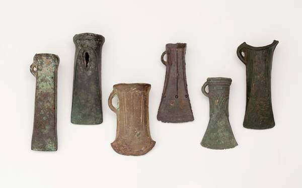 Bronze Age Wall Art - Photograph - Examples Of Late Bronze Age Socketed Axes by Paul D Stewart
