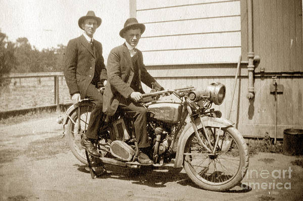 Photograph - Excalibur Motorcycle Circa 1920 by California Views Archives Mr Pat Hathaway Archives