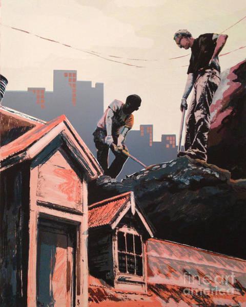 Wall Art - Mixed Media - Excavation Of The Homes by Ellen Moore Osborne