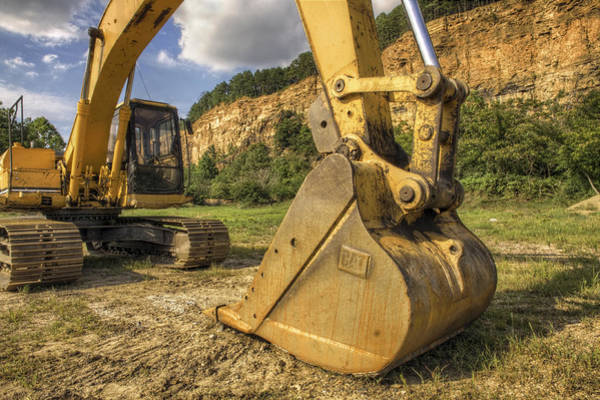 Excavator At Big Rock Quarry - Emerald Park - Arkansas Art Print