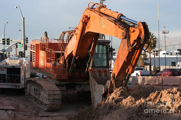 Photograph - Excavator Digging by Gunter Nezhoda