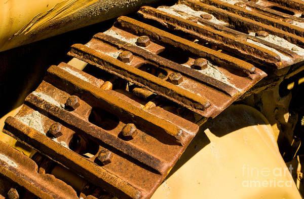 Photograph - Excavator / Bulldozer Drive Belt by Les Palenik