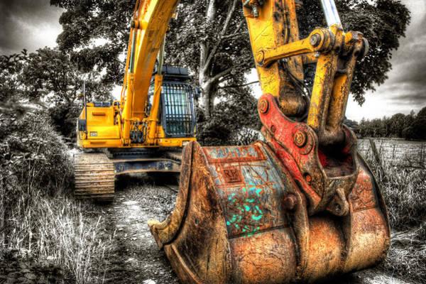 Excavator Photograph - Excavator by Mal Bray