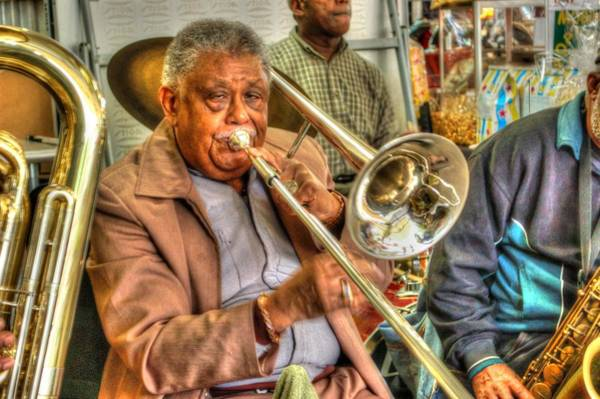Digital Art - Excelsior Band Horn Player by Michael Thomas