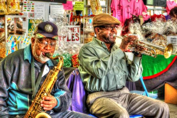 Digital Art - Excelsior Band Horn Players by Michael Thomas