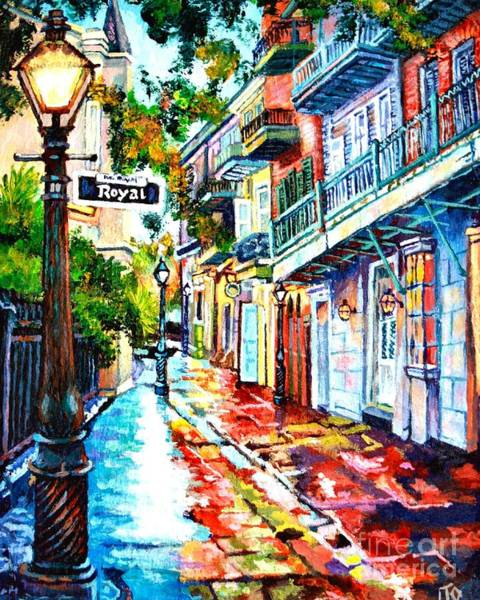 Royal Street Painting - Exchange Alley by Lisa Tygier Diamond
