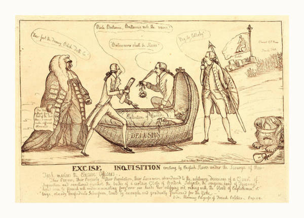 Wall Art - Drawing - Excise Inquisition Erecting By English Slaves by English School
