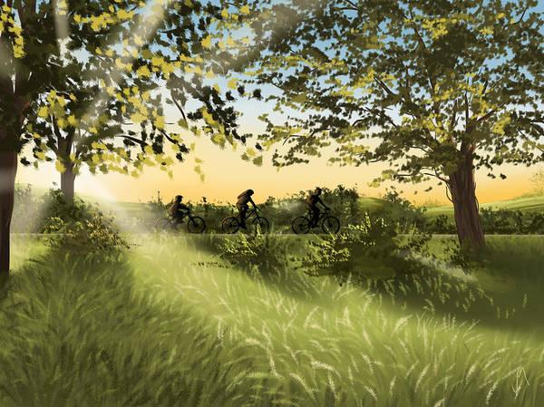 Grass Tree Digital Art - Excursion by Veronica Minozzi