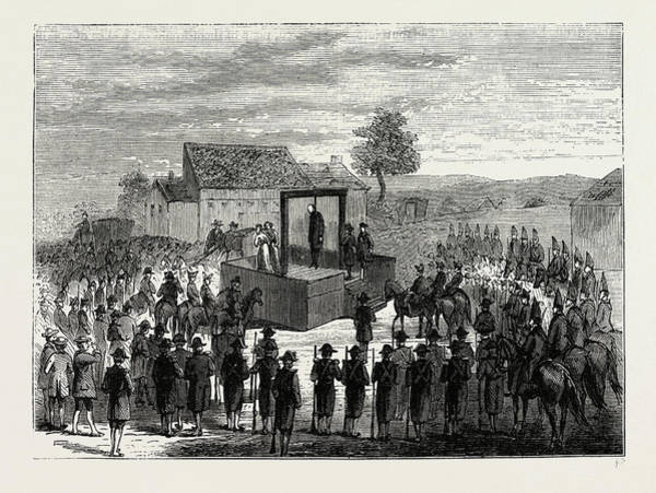 Wall Art - Drawing - Execution Of Lord Ferrers At Tyburn by Litz Collection