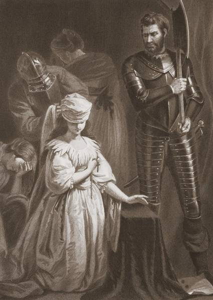 Armor Drawing - Execution Of Mary Queen Of Scots by John Opie