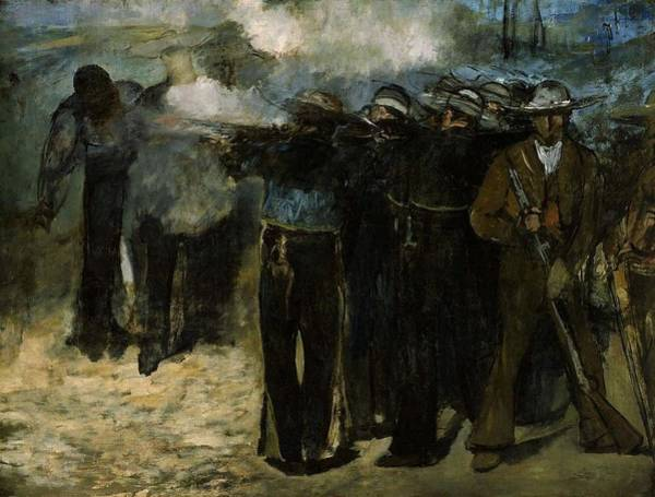 Wall Art - Painting - Execution Of The Emperor Maximilian by Edouard Manet