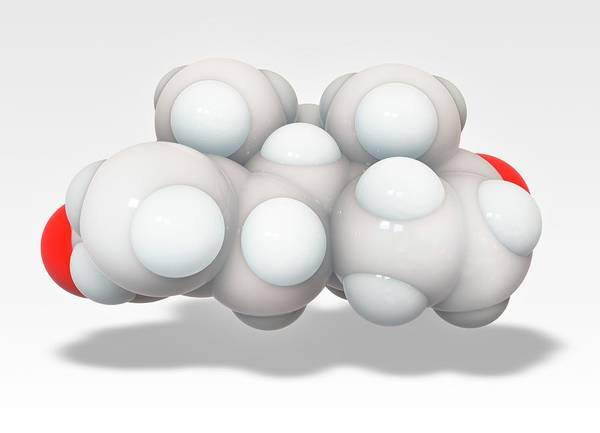 Er Photograph - Exemestane Breast Cancer Drug Molecule by Ramon Andrade 3dciencia