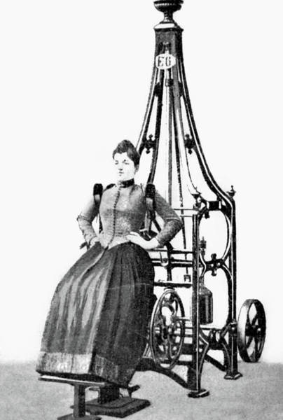 Drawing - Exercise Machine, 1896 by Granger