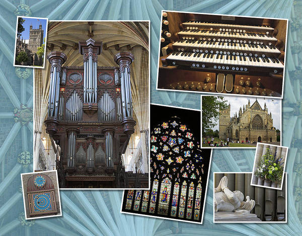 Photograph - Exeter Cathedral Montage by Jenny Setchell