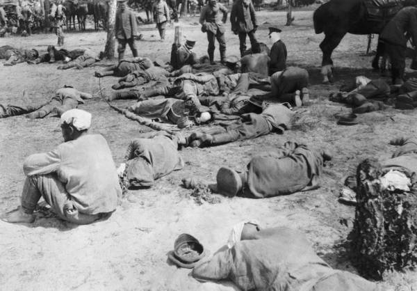 1915 Photograph - Exhausted Russian Soldiers by Underwood Archives