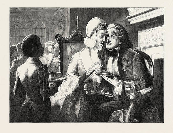 Wall Art - Drawing - Exhibition Of The British Institution Scandal by Solomon, Abraham (1824-62), English