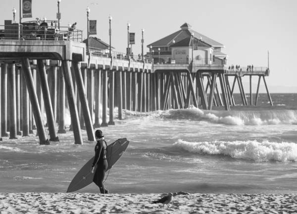 Photograph - Existential Surfing At Huntington Beach by Scott Campbell