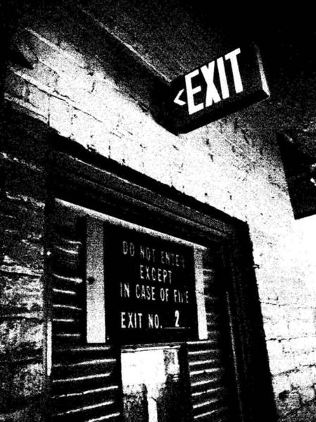 Photograph - Exit Number Two by Cleaster Cotton
